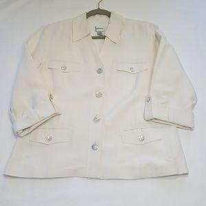 Chico's silk/linen blazer